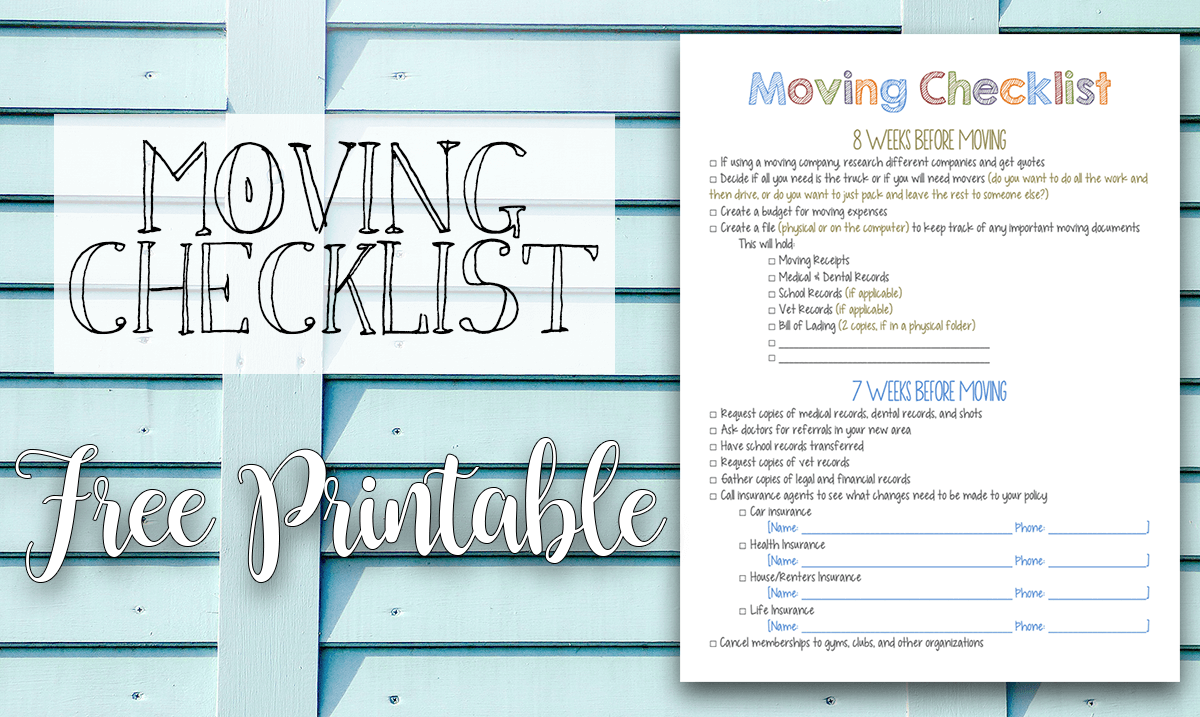 diy moving house checklist with checklist for moving house