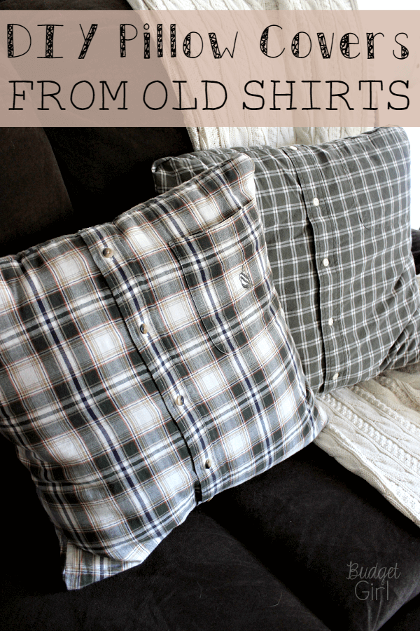 Diy Pillow Covers From Old Shirts Tastefully Eclectic
