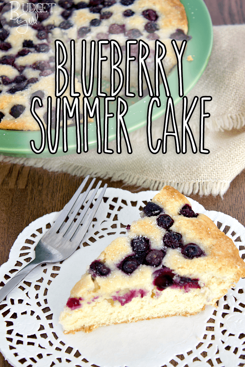 Almond Blueberry Summer Cake is an easy, light-tasting cake. Perfect for hot weather, since it requires very little effort.