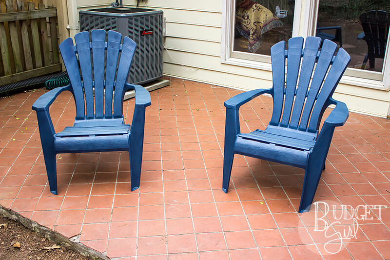 How To Paint Plastic Patio Chairs Tastefully Eclectic