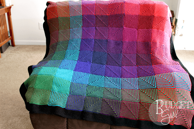 Jewel Hue Shift Afghan Tastefully Eclectic
