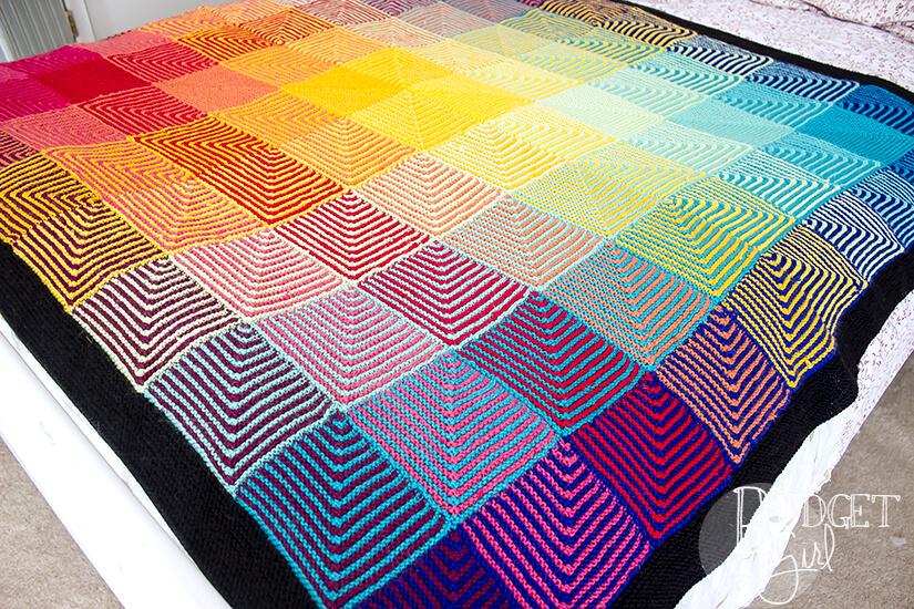 Checkerboard Baby Blanket Tastefully Eclectic