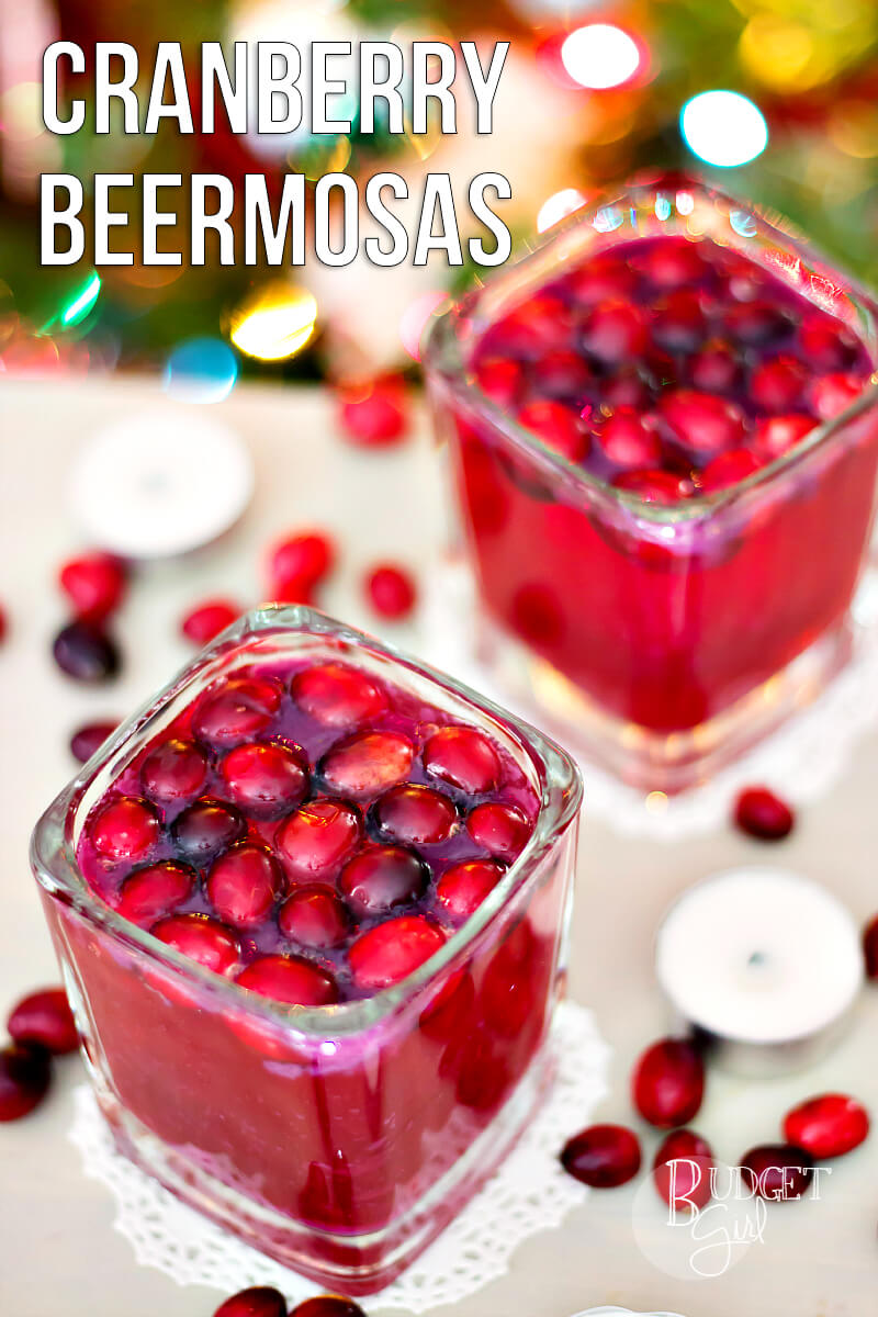 Cranberry Beermosas - Tastefully Eclectic