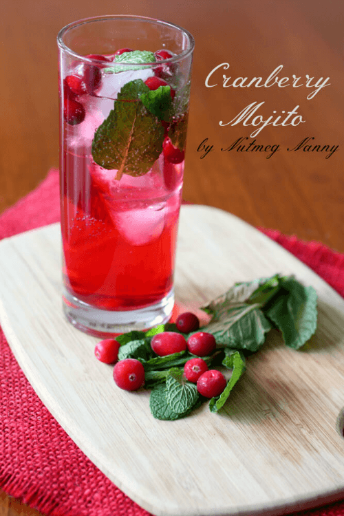 Cranberry Mojito - Tastefully Eclectic