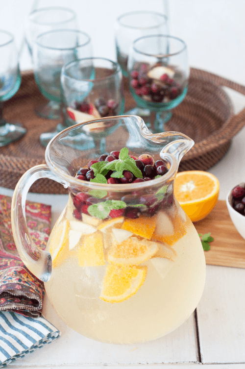 Seasonal White Sangria - Tastefully Eclectic