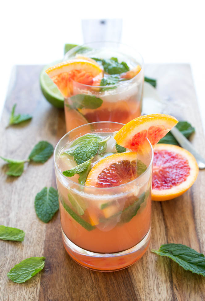 Blood Orange Mojito - Tastefully Eclectic