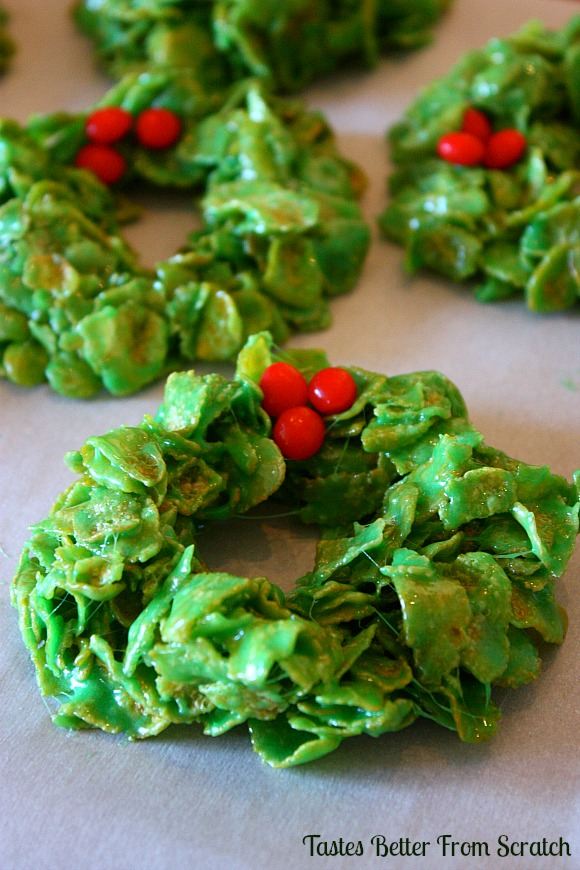 Christmas Cornflake Wreaths - Tastefully Eclectic