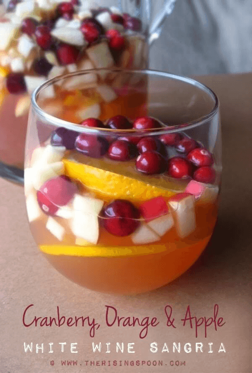 Cranberry, Orange, and Apple White Wine Sangria -- Tastefully Eclectic