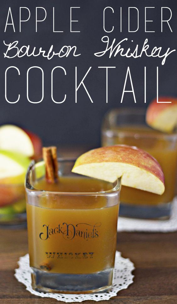 Apple Cider Bourbon Whiskey Cocktail - Tastefully Eclectic